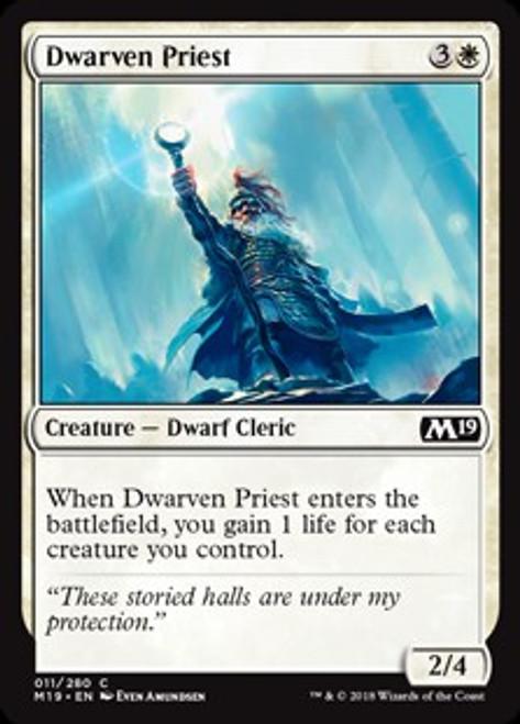 MtG 2019 Core Set Common Dwarven Priest #11