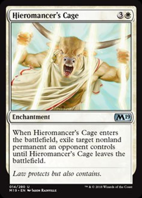 MtG 2019 Core Set Uncommon Hieromancer's Cage #14