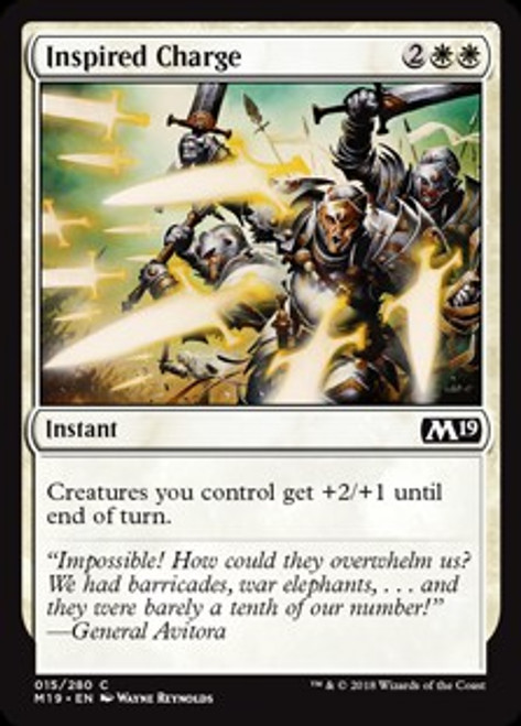 MtG 2019 Core Set Common Inspired Charge #15