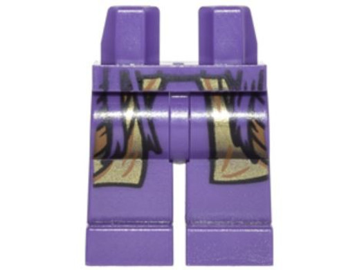 LEGO Dark Purple with Purple Straps and Metallic Gold Long Coat Loose Legs [Loose]
