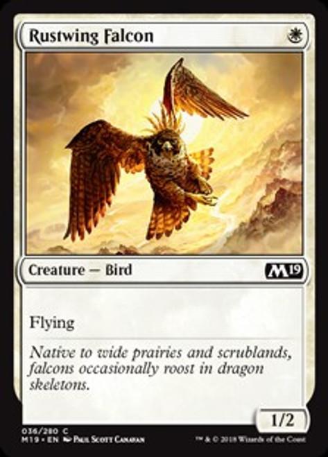 MtG 2019 Core Set Common Rustwing Falcon #36