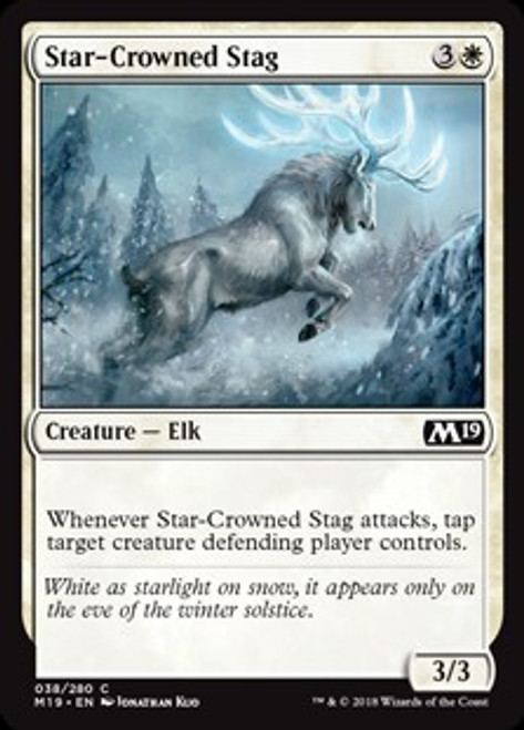 MtG 2019 Core Set Common Star-Crowned Stag #38