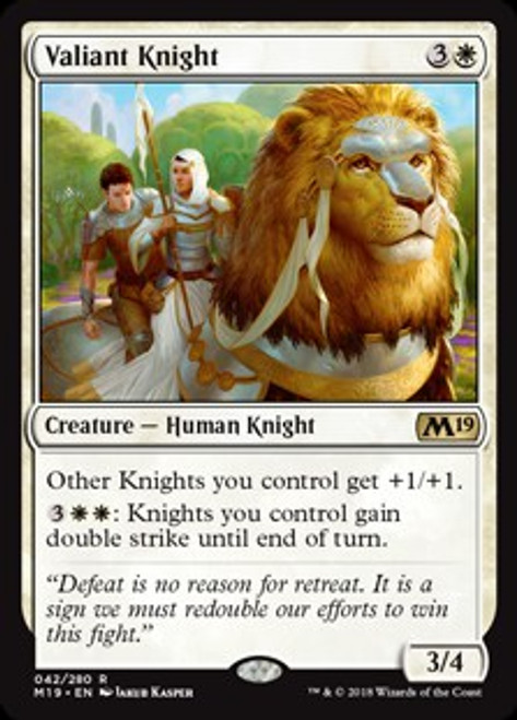 MtG 2019 Core Set Rare Valiant Knight #42