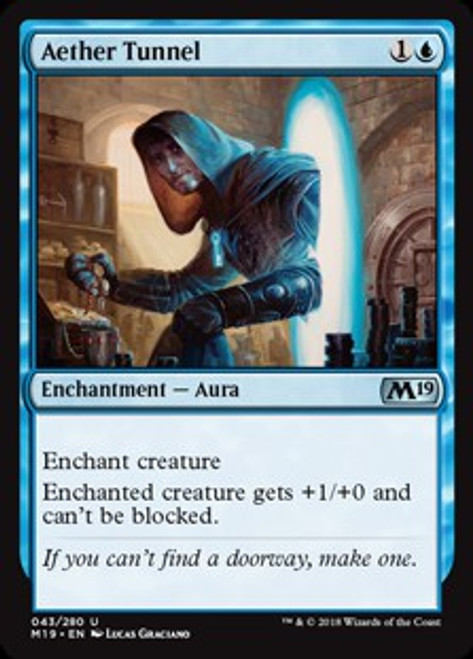 MtG 2019 Core Set Uncommon Aether Tunnel #43