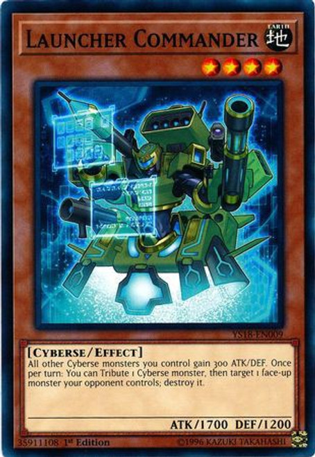 YuGiOh Starter Deck: Codebreaker Common Launcher Commander YS18-EN009