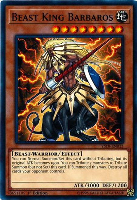 YuGiOh Starter Deck: Codebreaker Common Beast King Barbaros YS18-EN013