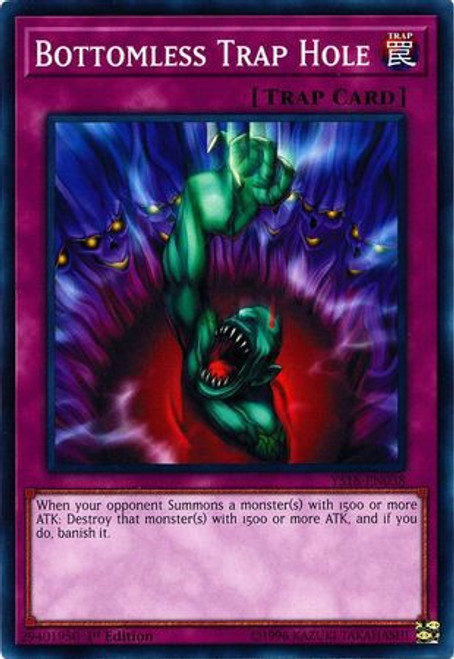 YuGiOh Starter Deck: Codebreaker Common Bottomless Trap Hole YS18-EN038