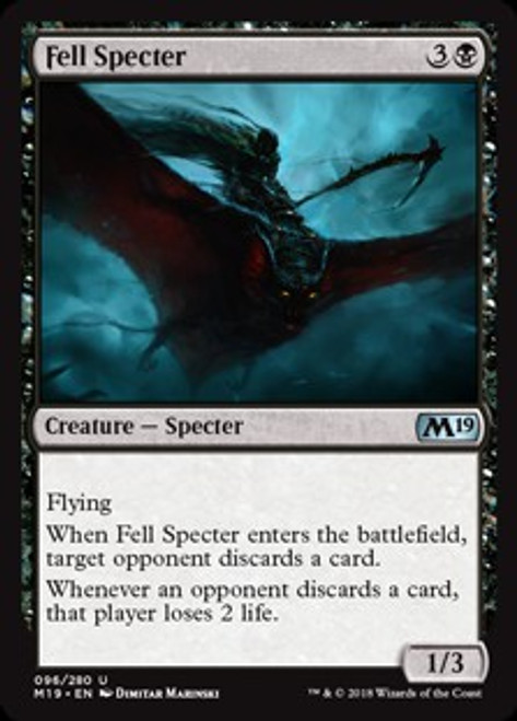 MtG 2019 Core Set Uncommon Fell Specter #96