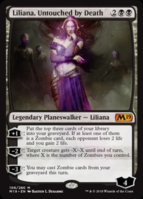 MtG 2019 Core Set Mythic Rare Liliana, Untouched by Death #106