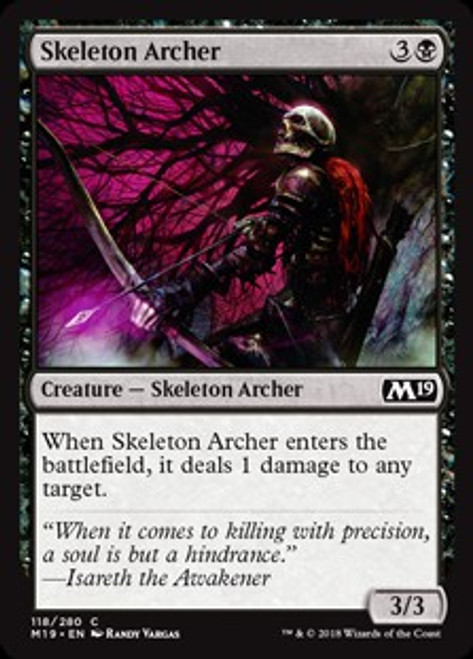MtG 2019 Core Set Common Skeleton Archer #118