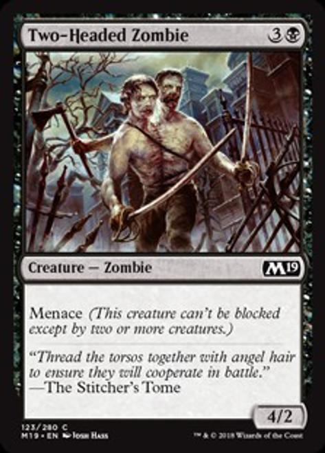 MtG 2019 Core Set Common Foil Two-Headed Zombie #123