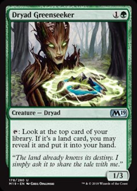 MtG 2019 Core Set Uncommon Dryad Greenseeker #178