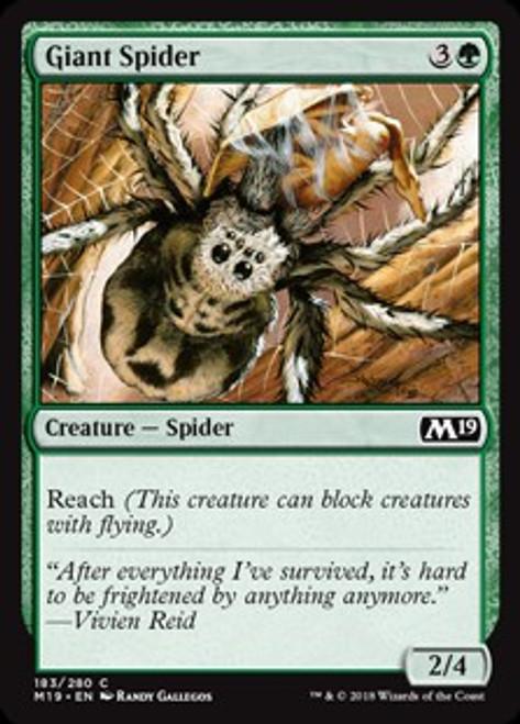 MtG 2019 Core Set Common Giant Spider #183