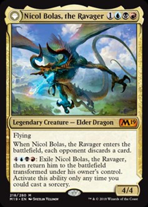MtG 2019 Core Set Mythic Rare Nicol Bolas, the Ravager // Nicol Bolas, the Arisen #218