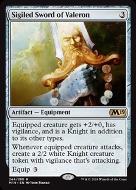 MtG 2019 Core Set Rare Sigiled Sword of Valeron #244