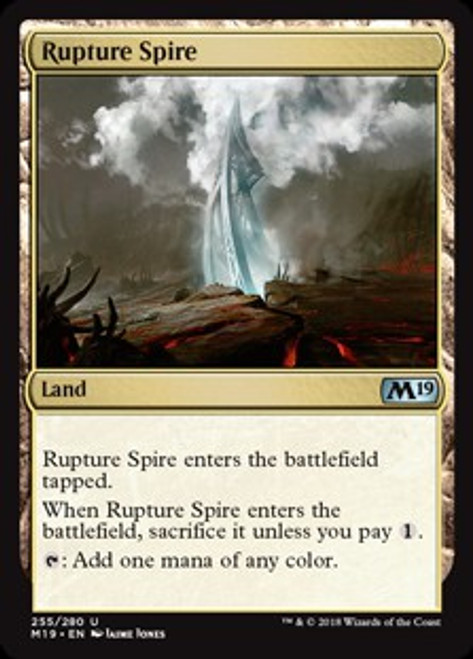 MtG 2019 Core Set Uncommon Rupture Spire #255