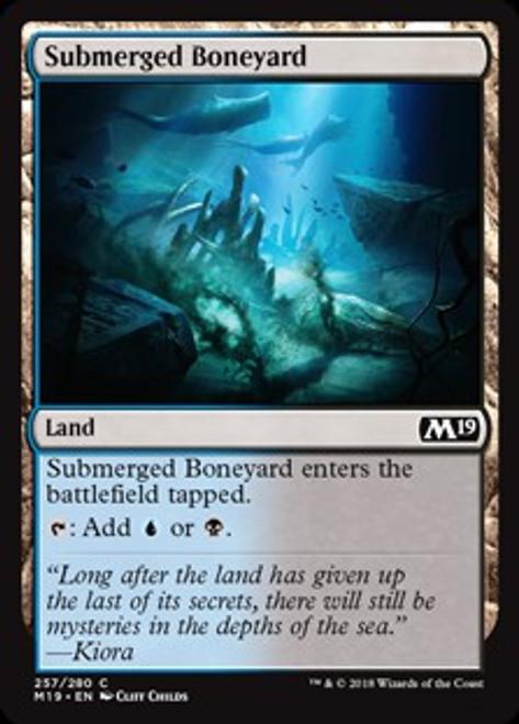 MtG 2019 Core Set Common Submerged Boneyard #257
