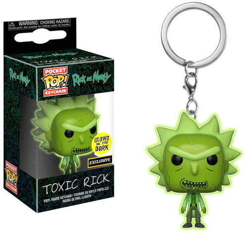 Funko Rick & Morty POP! Animation Toxic Rick Exclusive Keychain [Glows in the Dark]