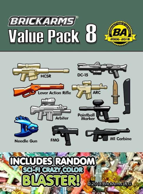 BrickArms Value Pack 8 2.5-Inch Weapons Pack