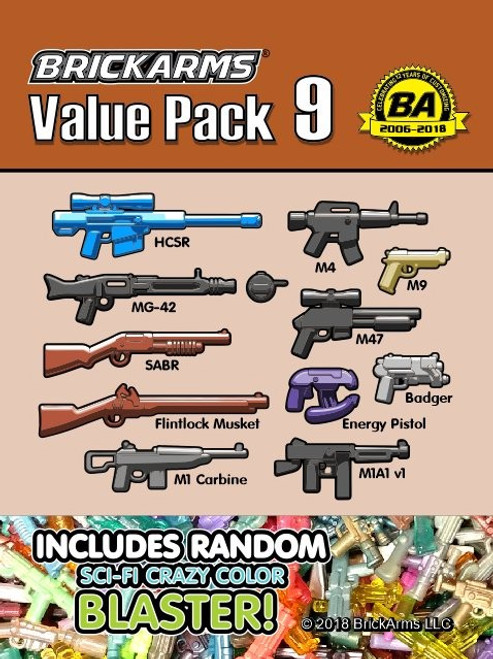 BrickArms Value Pack 9 2.5-Inch Weapons Pack