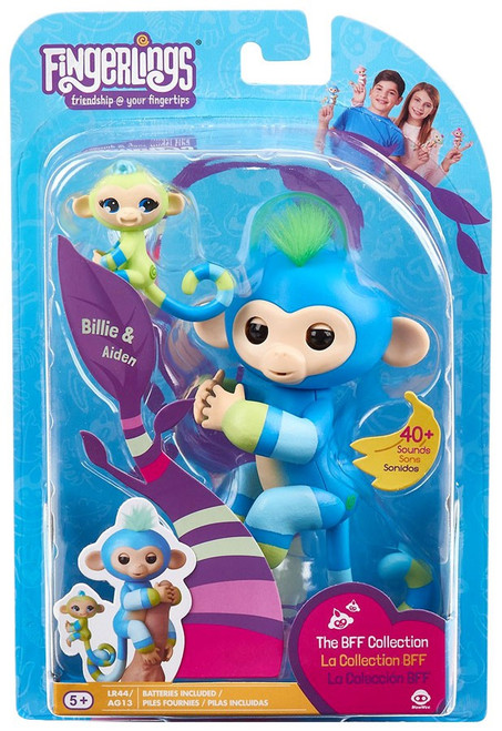 Fingerlings Baby Monkey Billie & Aiden Figure [The BFF Collection]