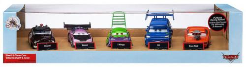 Disney / Pixar Cars Cars 3 Pull 'N' Race Sheriff & Tuner Cars Exclusive Vehicle