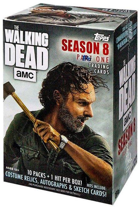 The Walking Dead Topps Season 8 Trading Card BLASTER Box [10 Packs + 1 Hit!]