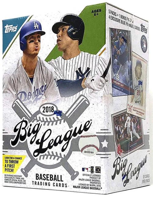 MLB Topps 2018 Big League Baseball Trading Card BLASTER Box [5 Packs + 1 Bonus Pack]