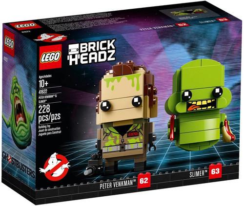 LEGO Ghostbusters Brick Headz Peter Venkman & Slimer Set
