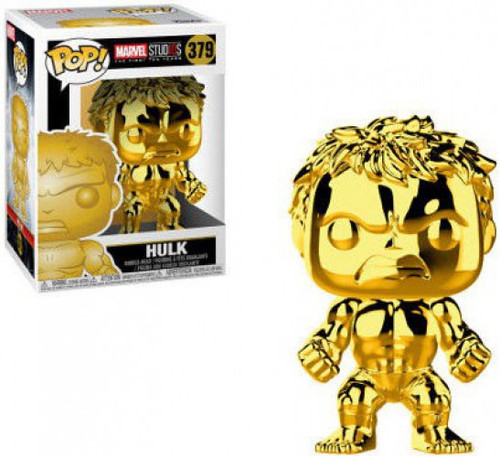 Funko Marvel Studios 10 POP! Marvel Hulk Vinyl Bobble Head #379 [Gold Chrome]