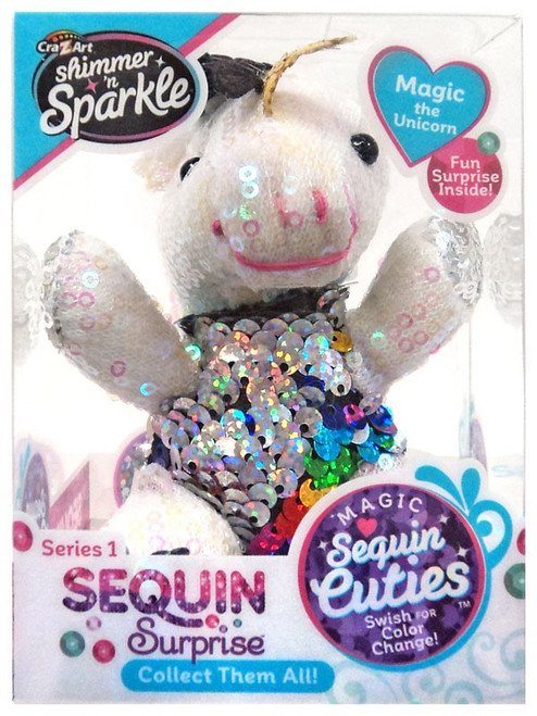 Shimmer 'n Sparkle Magic Sequin Cuties Sequin Surprise Series 1 Magic the Unicorn Mini Plush