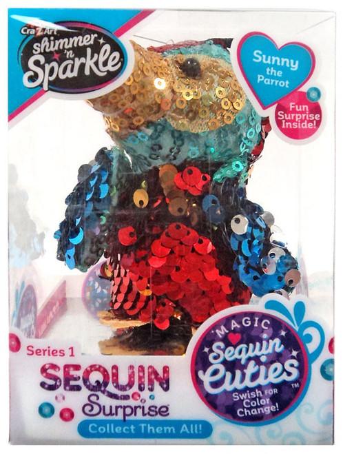 Shimmer 'n Sparkle Magic Sequin Cuties Sequin Surprise Series 1 Sunny the Parrot Mini Plush