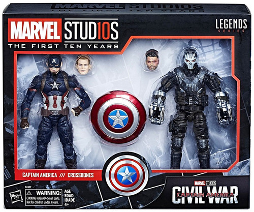 Avengers: Civil War Marvel Studios: The First Ten Years Marvel Legends Captain America & Crossbones Action Figure 2-Pack