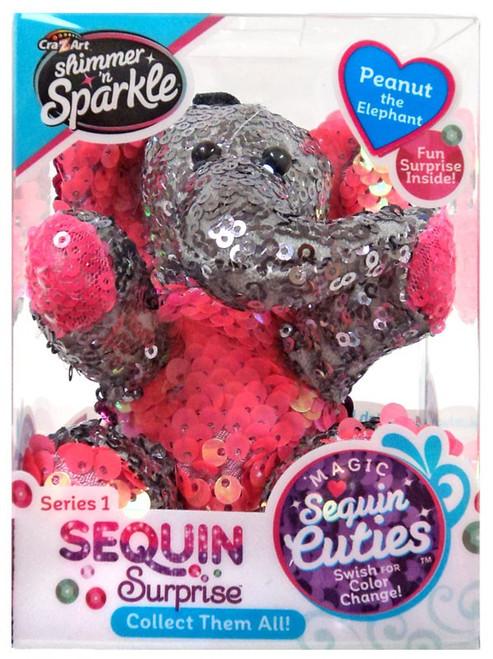 Shimmer 'n Sparkle Magic Sequin Cuties Sequin Surprise Series 1 Peanut the Elephant Mini Plush