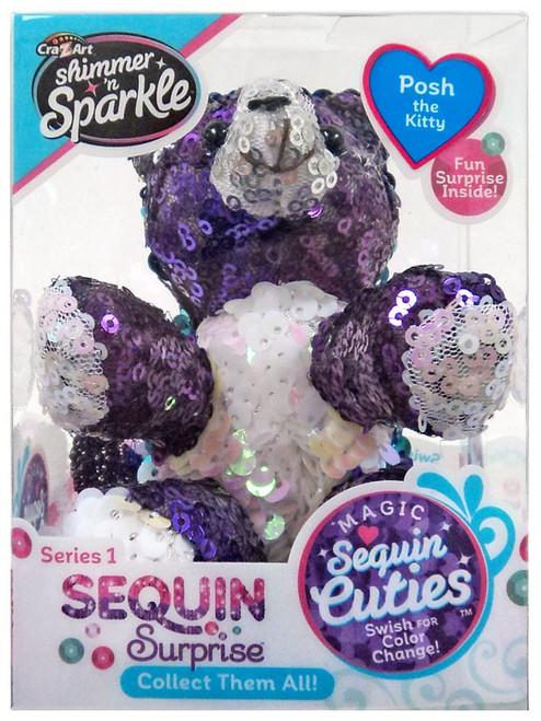 Shimmer 'n Sparkle Magic Sequin Cuties Sequin Surprise Series 1 Posh the Kitty Mini Plush