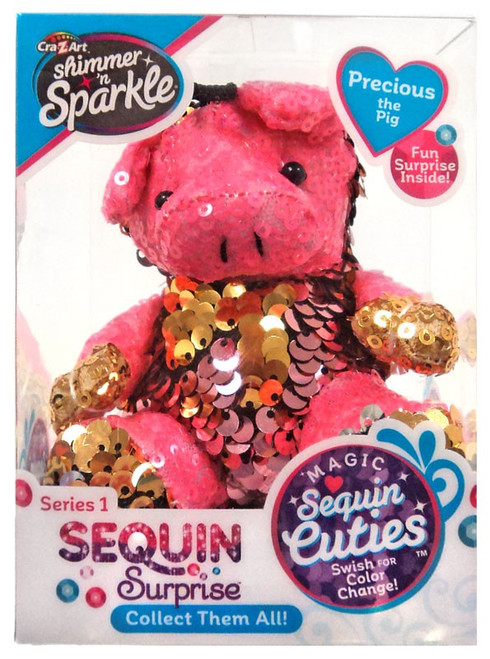 Shimmer 'n Sparkle Magic Sequin Cuties Sequin Surprise Series 1 Precious the Pig Mini Plush