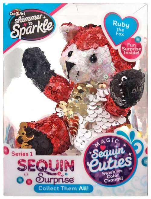 Shimmer 'n Sparkle Magic Sequin Cuties Sequin Surprise Series 1 Ruby the Fox Mini Plush