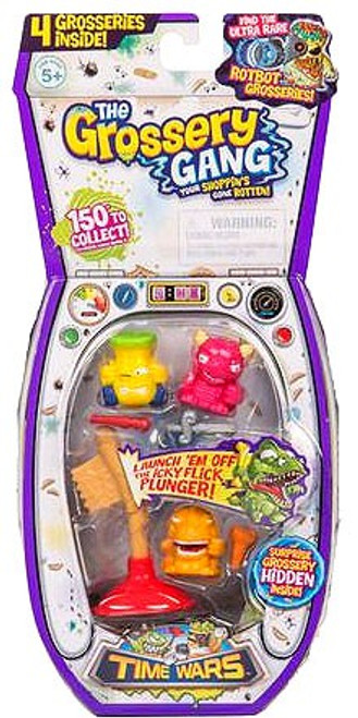 The Grossery Gang Series 5 Time Wars Mini Figure 4-Pack [RANDOM Figures]