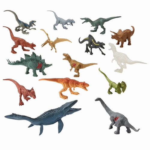 Jurassic World Matchbox Battle Damage Mini Dinosaur Figures 2-Inch Random LOT of 5 [Loose]
