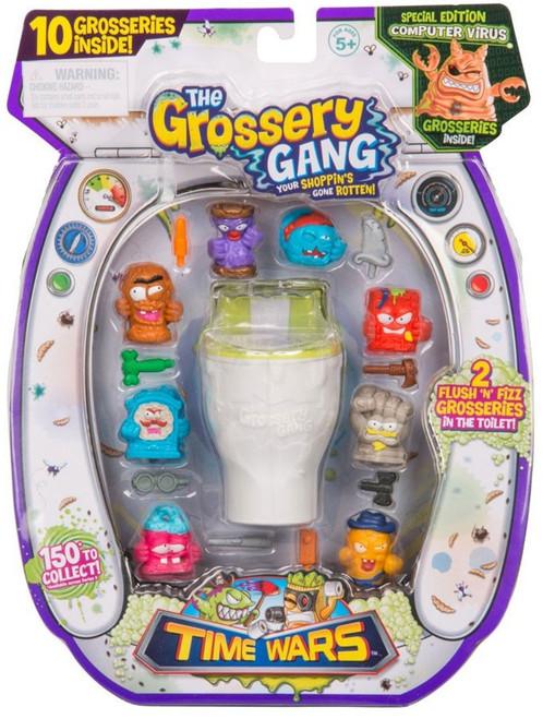 The Grossery Gang Series 5 Time Wars Mini Figure 10-Pack [Flush 'N' Fizz, RANDOM Figures]