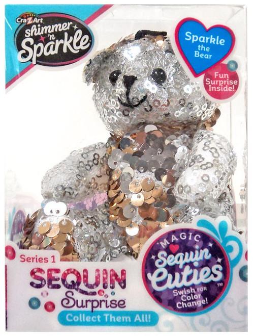 Shimmer 'n Sparkle Magic Sequin Cuties Sequin Surprise Series 1 Sparkle the Bear Mini Plush