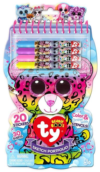 Beanie Boos Ty Sketch Portfolio [with 20 Stickers]