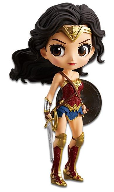 DC Q Posket Wonder Woman 6-Inch Collectible PVC Figure [Normal Color Version]