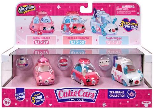 Shopkins Cutie Cars Tea Brake Figure 3-Pack QT3-29, 30 & 31 [Tooty Teapot, Toots Le Macaron]