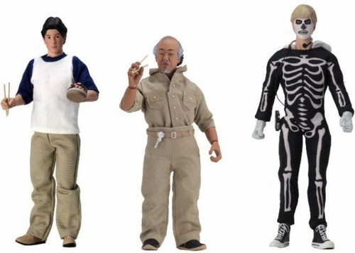 NECA The Karate Kid Daniel, Mr Miyagi & Johnny Set of 3 Clothed Action Figures