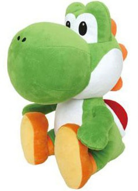 Super Mario Green Yoshi 17-Inch Plush [Sitting]