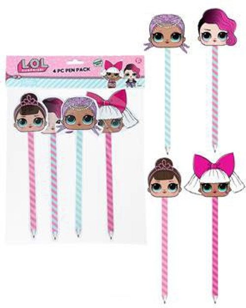 LOL Surprise Pen Toppers 4 Piece Set