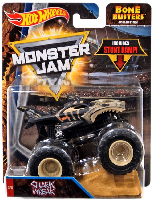 Hot Wheels Monster Trucks Blizzard Bashers Shark Wreak 164 Die Cast Car Mattel Toys Toywiz