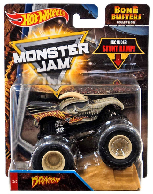 Hot Wheels Monster Jam Bone Busters Dragon Diecast Car