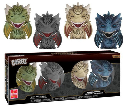 Funko Game of Thrones Dorbz Dragons Exclusive Vinyl Figure 4-Pack